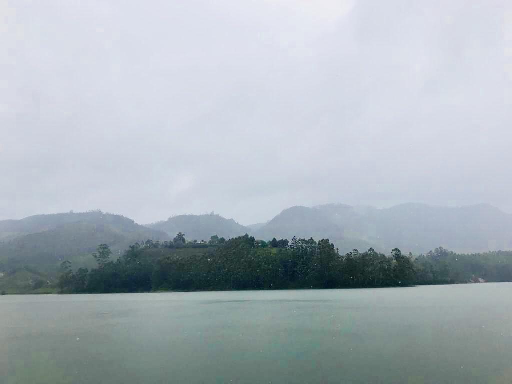 Panoramic view of Mattupetty Dam