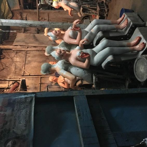 The idols in preperation in Kumartoli