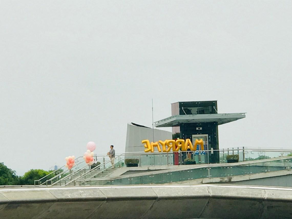 Proposal at Marina Barrage.