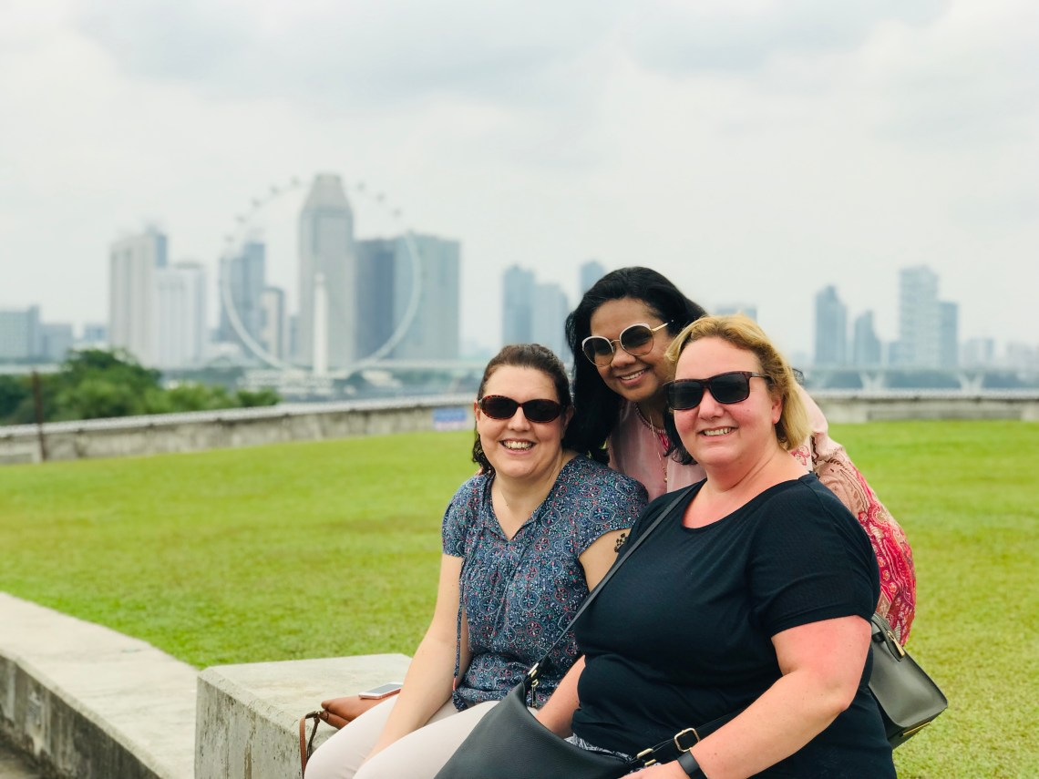 Friends at Marina Barrage.