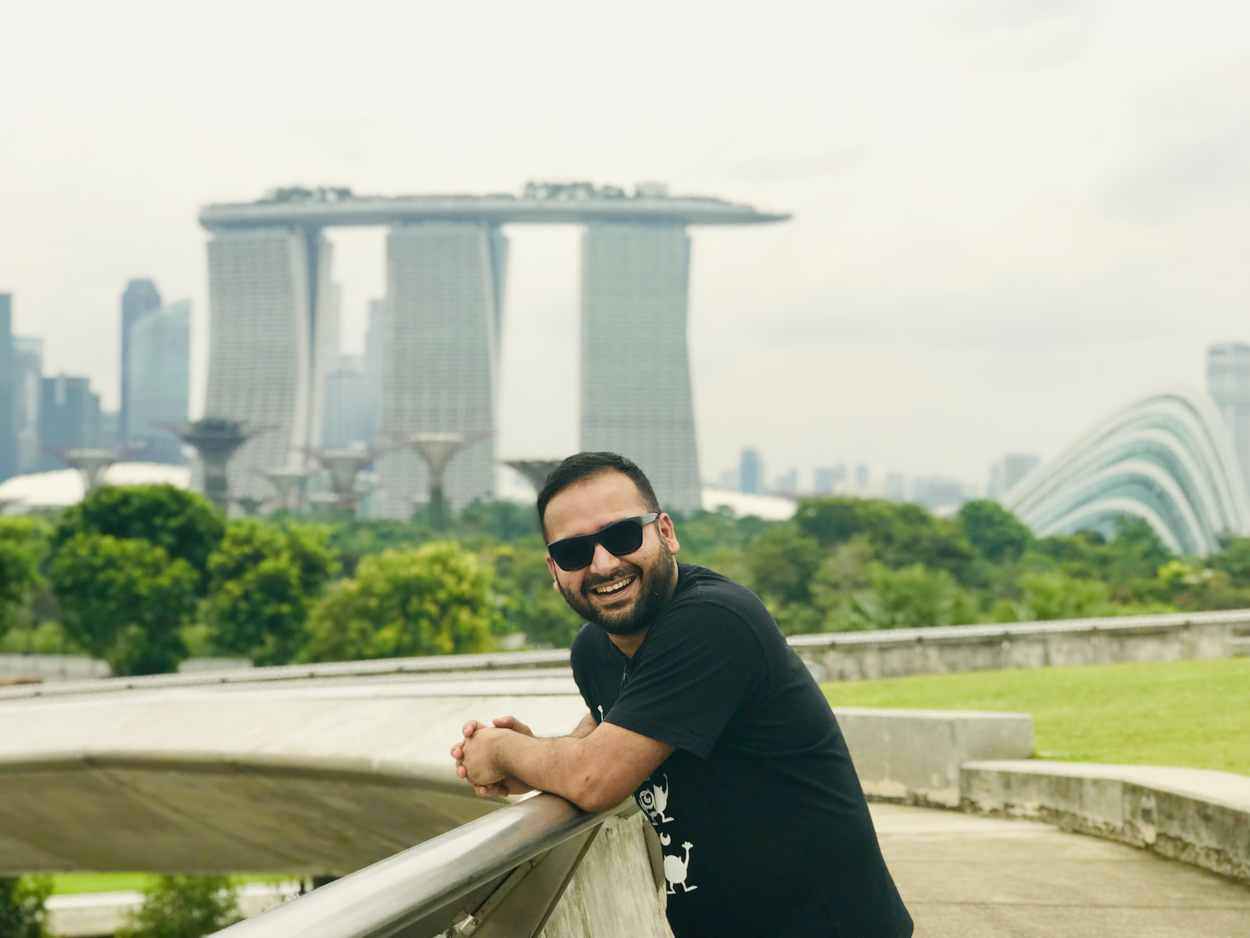 A happy moment captured at Marina Barrage.