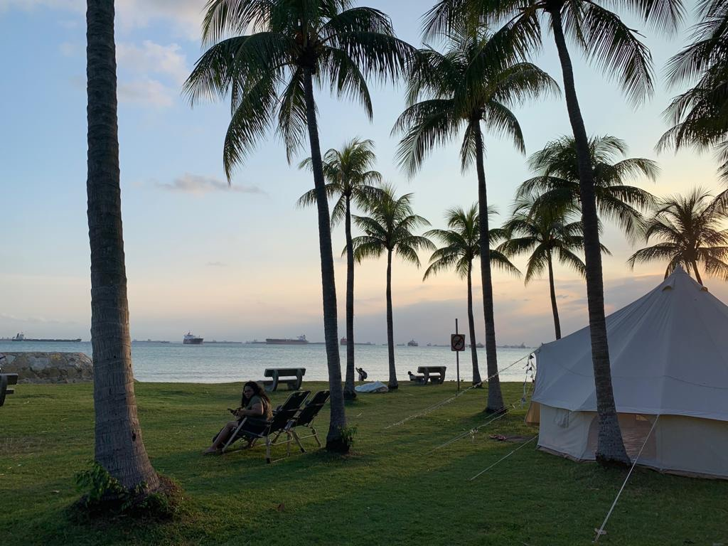 Camping location  in East Coast park, Singapore