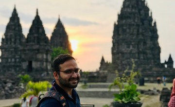 The sunset view at Prambanan at Yogyakarta
