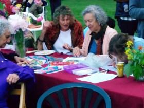 Anne Ellinger from Massachusetts showing her art work