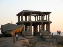 Ancient rocks and temples in Hampi