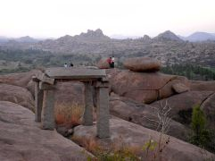 Dusk in Hampi….Mountains of rocks everywhere