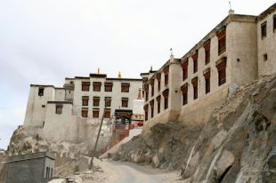 A closer view of Leh Palace, fashioned after the Potala Palace in Llasa, Tibet