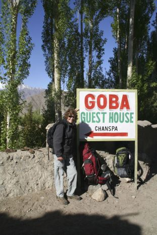 Waiting for our ride at the Goba