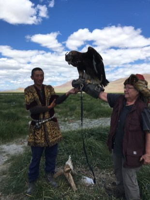 Tamara with eagle.