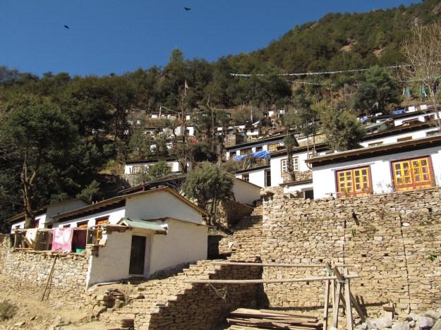 Retreat cabins on the hillside