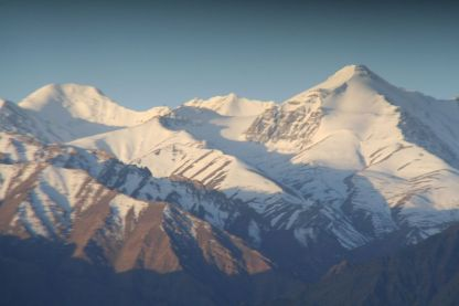 View of the Stok Kangri range from my window in Leh