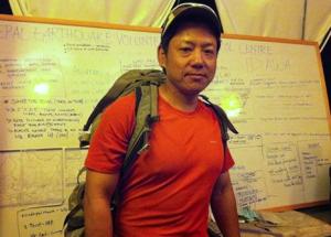 Jwalant Gurung May 2015 earthquake aid