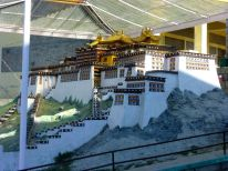Model of the Potala Palace in Llasa made by students