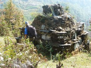 An ancient stupa that survived the quake