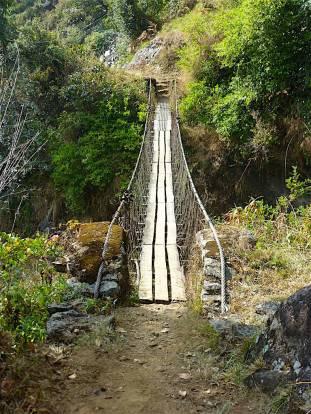 Patched but passable bridge