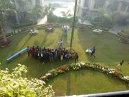 Student conference on the green