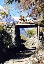 Typical entrance to a mountain village