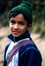 Boy met on the trail…going to school