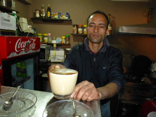 Raj Kumar, who makes the best espresso coffee in Kathmandu....
