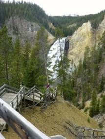It's a long way down....still the Lower Falls.
