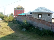The back side of the monastery