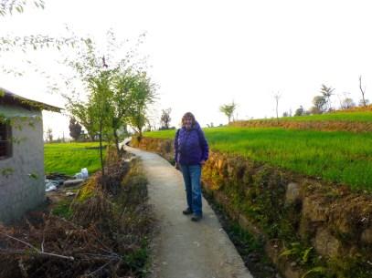 Heading for Bir through the back fields