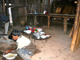 Taung Yo's makeshift kitchen. The food was a wonderful vegetarian cuisine. Each of us enjoyed a whole avocado daily!