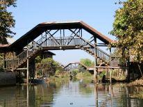 Bridges and pedestrian walkways abound on the lake