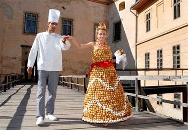 cream puff gown