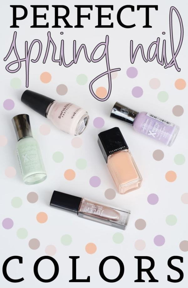 Perfect Spring Nail Colors - beautiful  pastels that are on trend for Spring 2014!