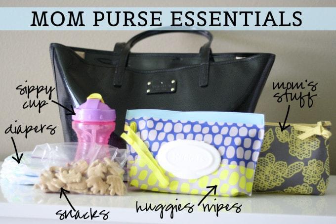 Mom Purse Essentials #Huggies #HuggiesMomStyle #sp