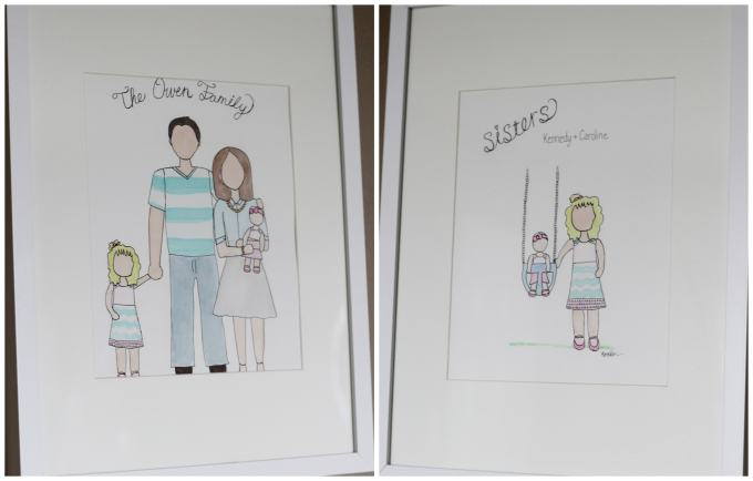 Custom watercolors for baby's nursery - so special!