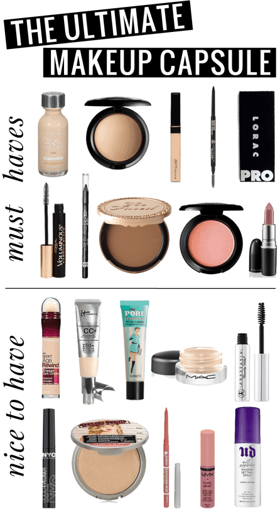 The Ultimate Makeup Capsule: The Minimalist Makeup Bag by beauty blogger Meg O. on the Go