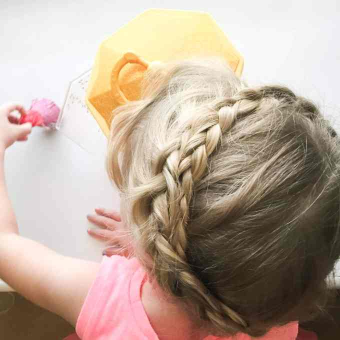 braid crown toddler hairstyle