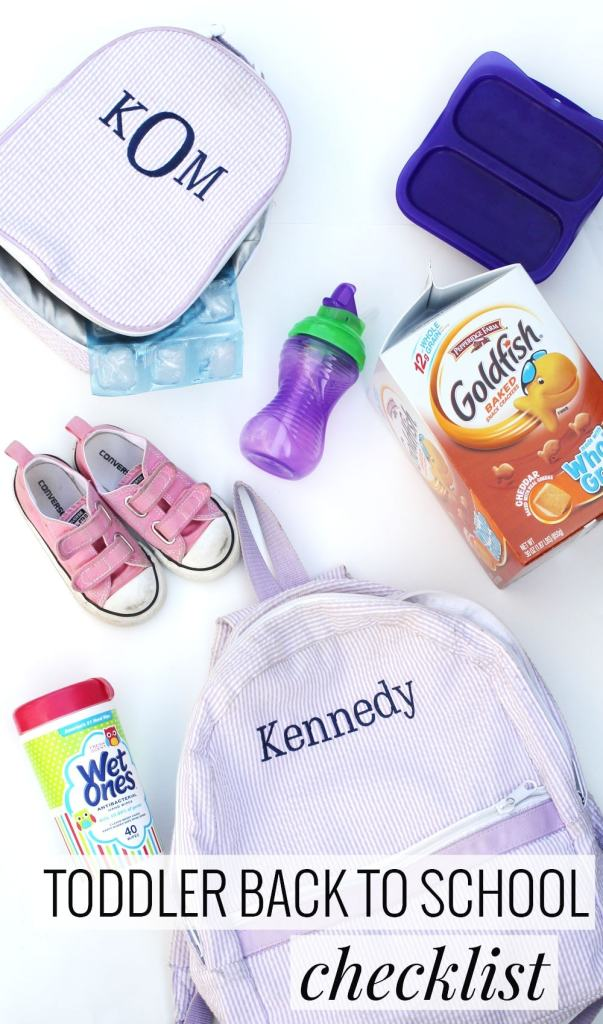 Toddler Back to School Checklist - great for those kiddos who are heading to an MDO program