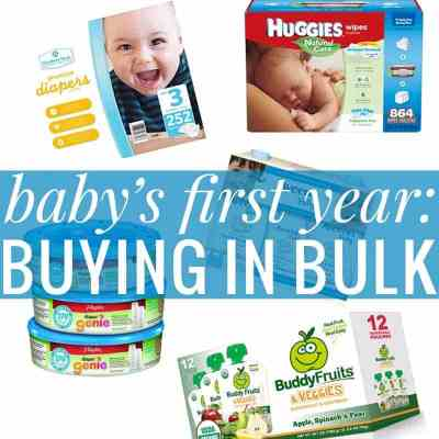 Baby's First Year - Buying in Bulk