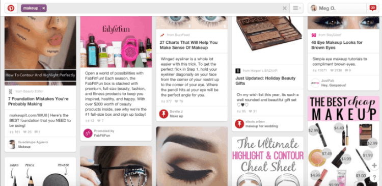 Makeup on Pinterest - SEO Example