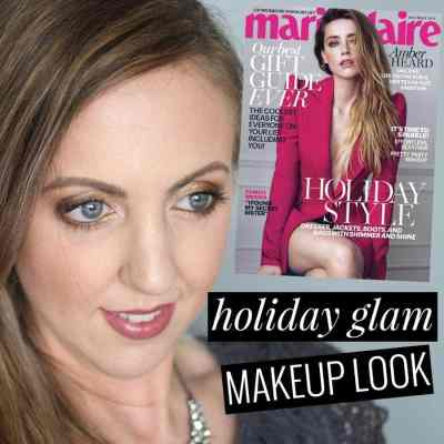 Holiday Glam Makeup Look Inspired by Marie Claire December Cover