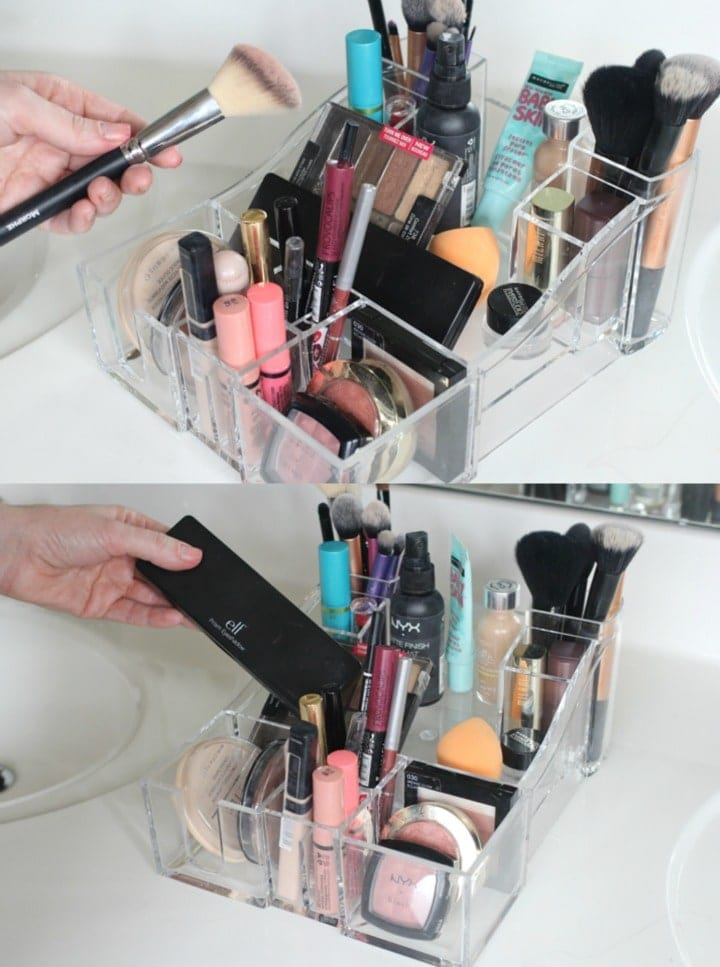 Caboodles Clear Acrylic Counter Tray - can fit my entire drugstore makeup starter kit!