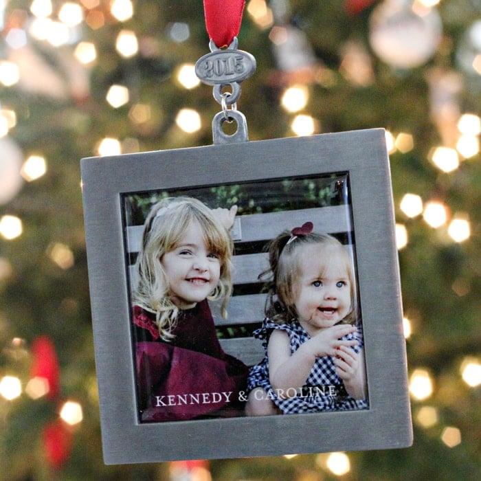 Tiny Prints Zinc Ornament