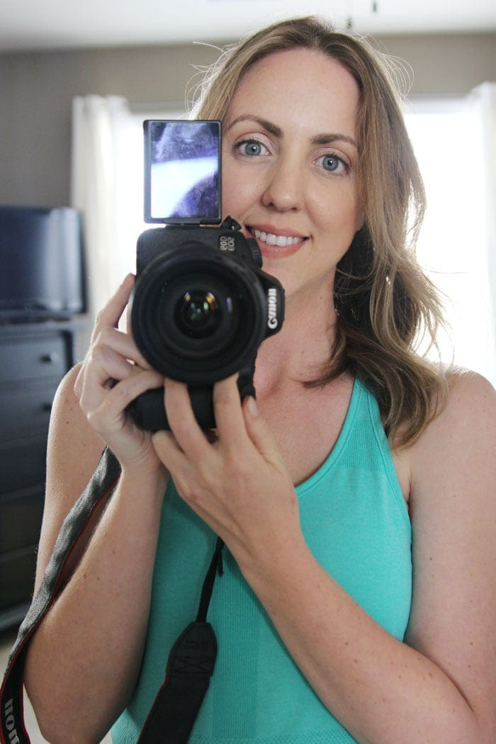 A DSLR with a swivel screen is perfect for selfies and filming videos!