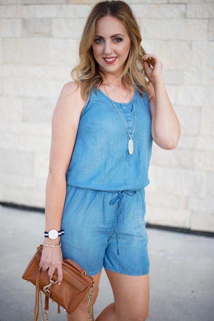 chambray romper from Target
