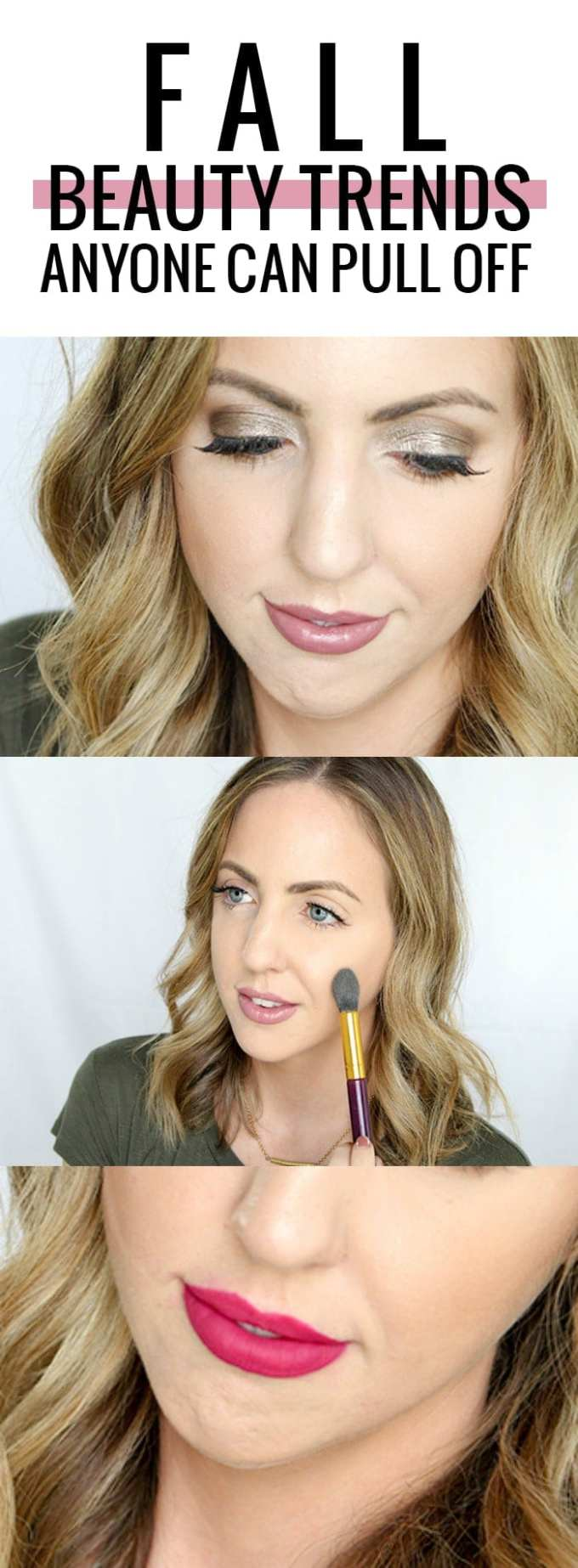 Fall beauty trends anyone can pull off! Seriously, anyone! Click through to see all of the trends!