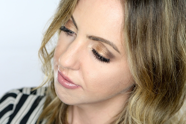 Shimmery neutral eyeshadow tutorial