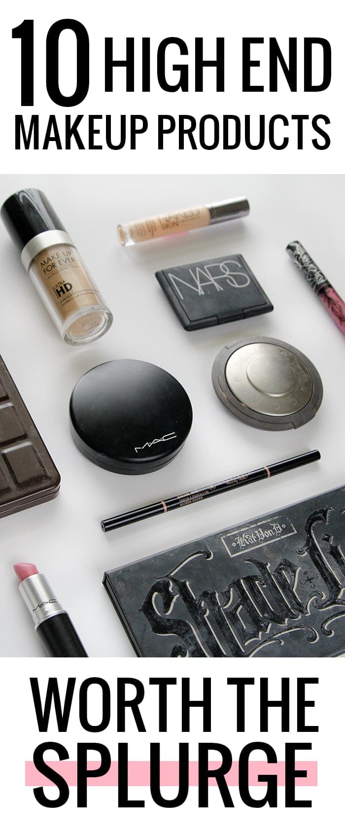 10 high end makeup products worth the splurge. Holy grail high end makeup!