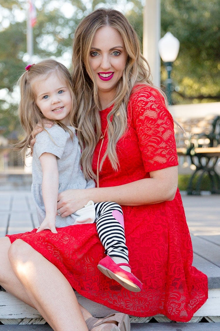 Mommy toddler Valentine's Day outfits