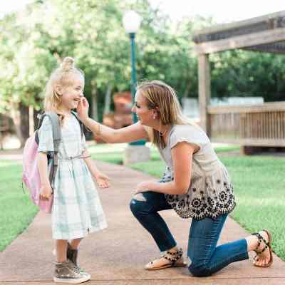 Mother daughter first day of kindergarten outfit ideas from Lifestyle Blogger, Meg O. on the Go