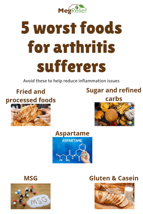 5 worst food for arthritis