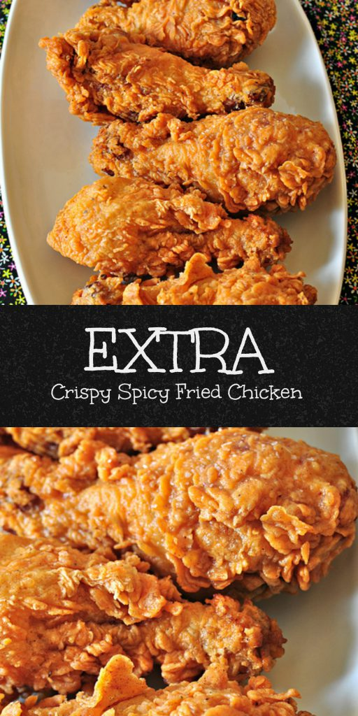 This Extra Crispy Spicy Fried Chicken is moist and tender from a buttermilk soak and extra crispy from a double batter. You won't believe the crunch.