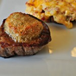 Parmesan Crusted Filet Mignon makes the most romantic Valentines dinner at home. Simple to make and sure to impress.